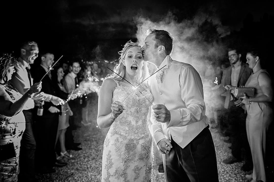 Sparkler Exit Lillibrooke Manor Wedding PhotographySneak Peek