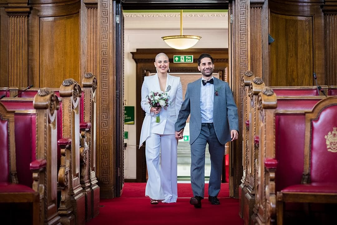 Islington Town Hall Wedding Photographer The Processional