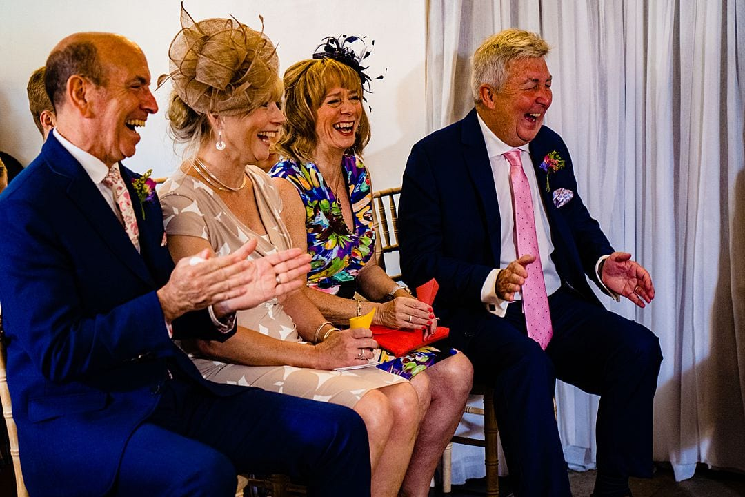 farbridge wedding photography laughing guests