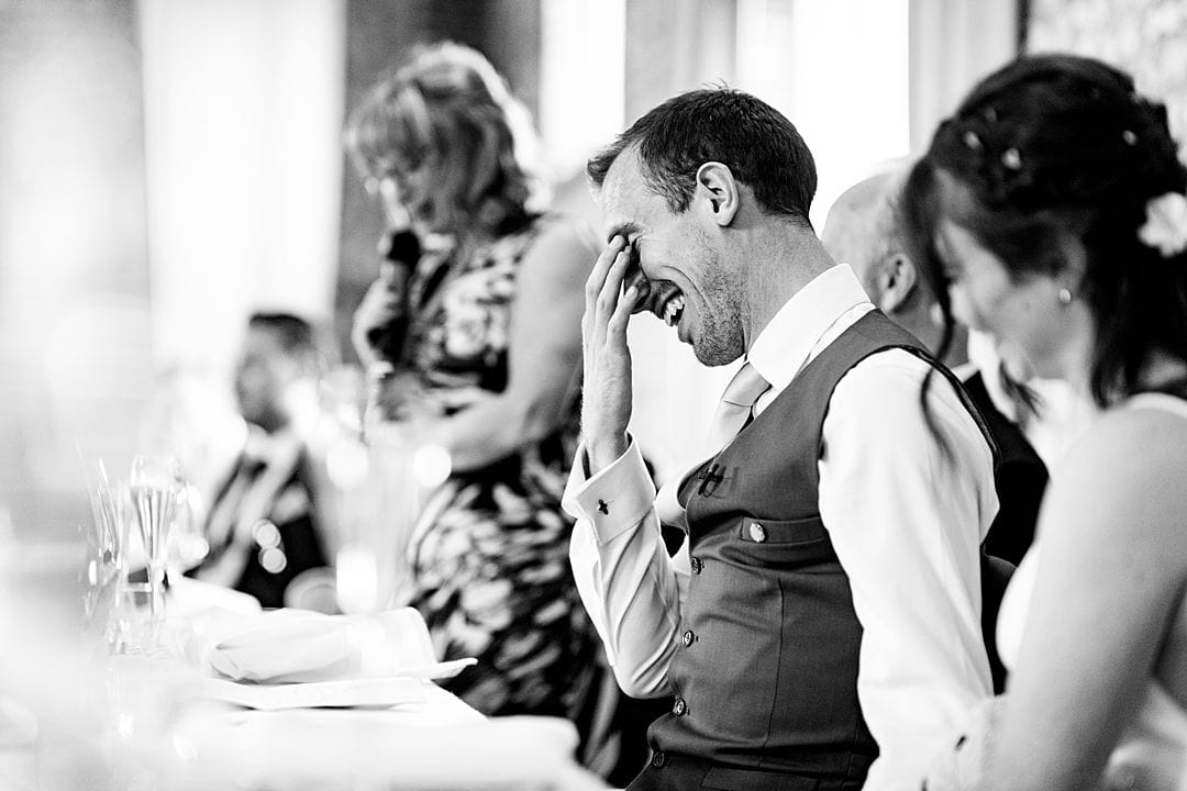 farbridge wedding photography groom's reaction to bride's mother's speech