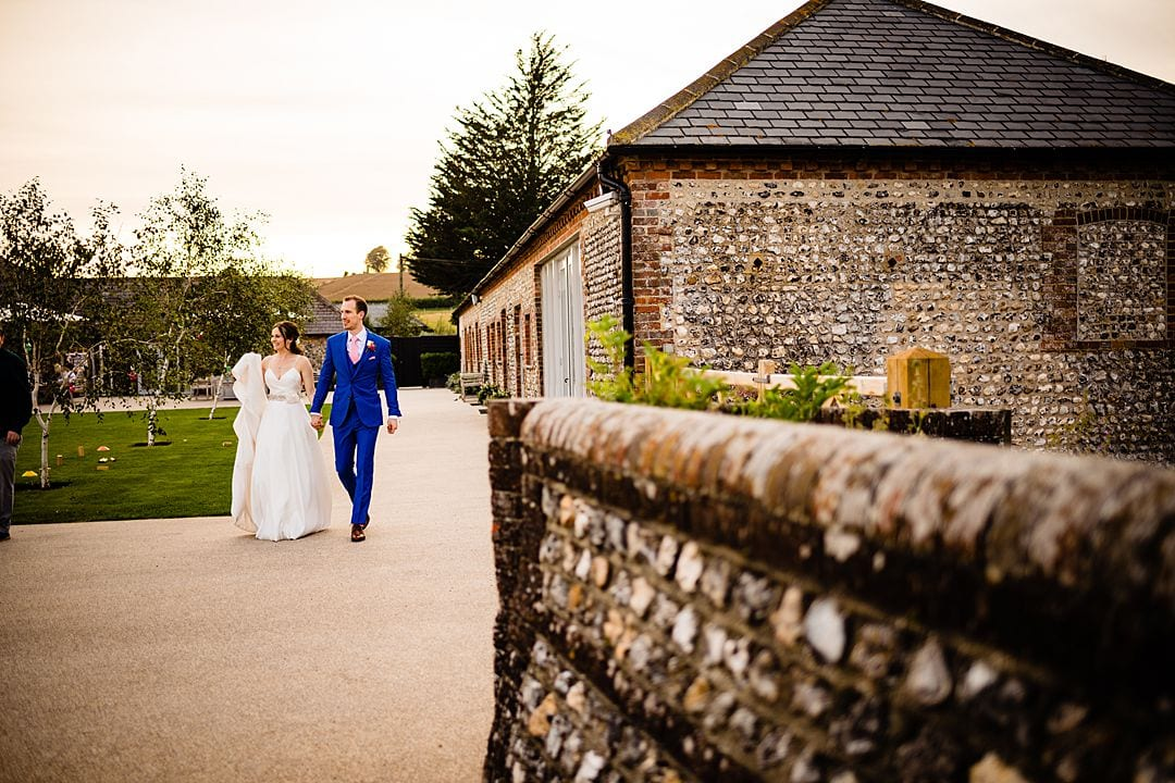 farbridge wedding photography bride and groom walking
