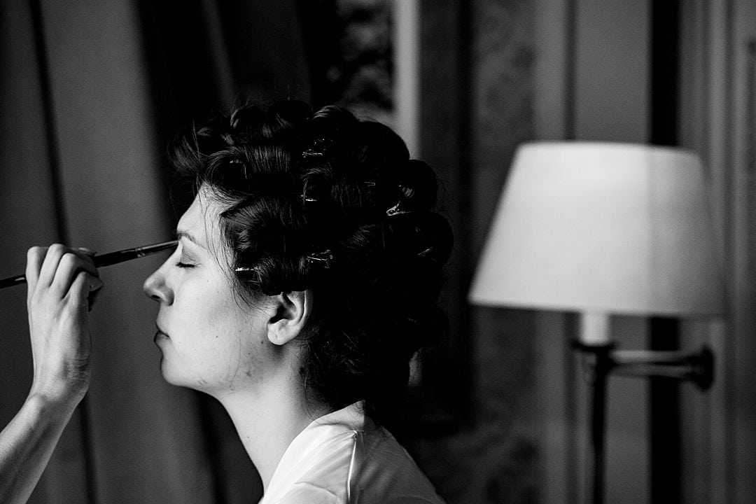 RAC Woodcote Park Wedding Photography bride getting ready