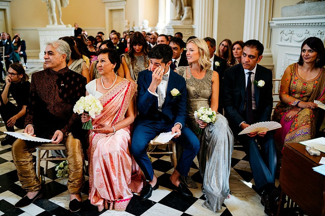 Syon Park Wedding Photography bride's family at the Syon House ceremony