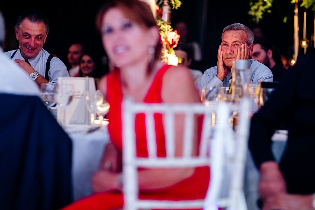guest looking on during the speeches at syon park hilton