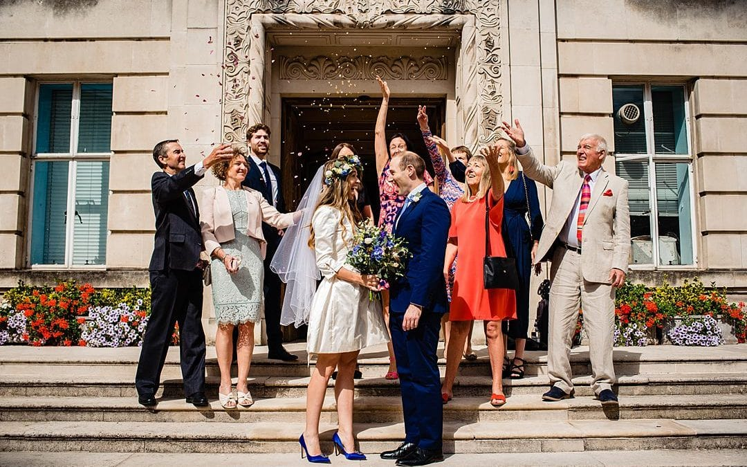 Wandsworth Town Hall Wedding Photography confetti